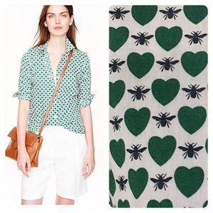 J. Crew Perfect shirt in honeypie print